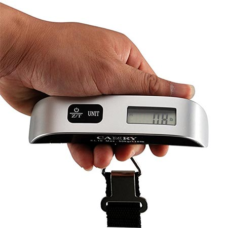 3 Camry 110 Lbs Luggage Scale with Temperature Sensor and Tare Function Gift For Traveler, Silver, One Size