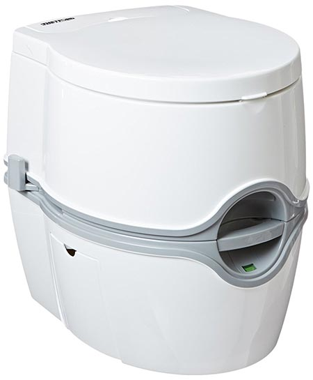 3 PortaPotti Curve Portable Toilet for RV | camping | vans | trucks | healthcare | boats - model 550E, by Thetford – 92360