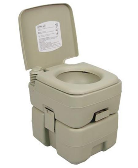 5 Palm Springs Outdoor 5 Gal Portable Outdoor Camping Recreation Toilet