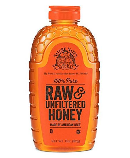 1. Nature Nate's 100% Raw, Unfiltered and Pure Honey, 32 Ounce