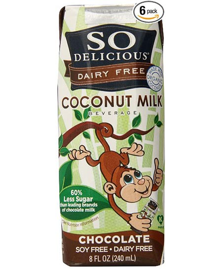 4. So Delicious Coconut and Chocolate Shelf Stable Milk, 8 Ounces