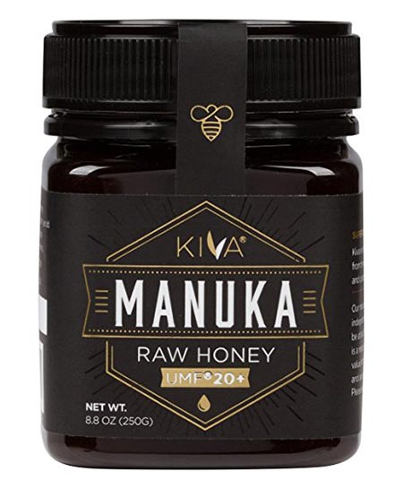 8.Kiva Certified Raw UMF 20+ Manuka Honey