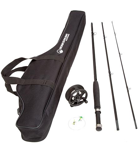 8. Wakeman Charter Series Fly Fishing Combo with Carry Bag