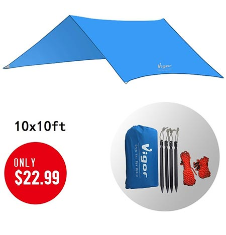 2. Vigor Waterproof Tent Tarp