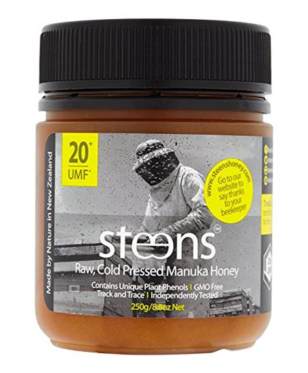 9. Steens Manuka UMF 20 Honey/ Pure Raw and Unpasteurized Honey from The New Zealand