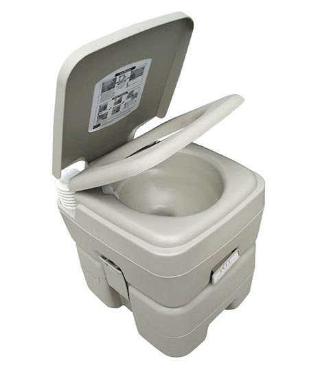 10 New Invention T-Type Three Directional Flush Portable Toilet for Camping