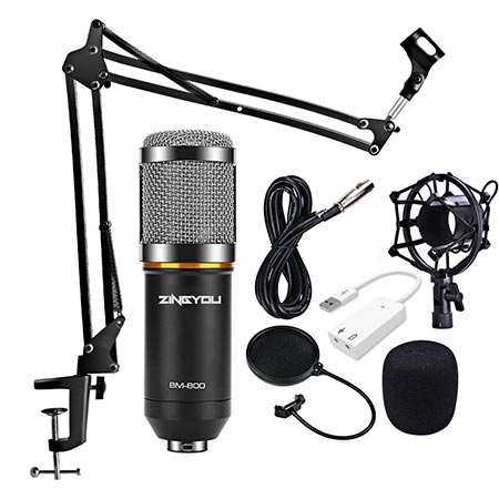 7. ZINGYOU Condenser Microphone Kit