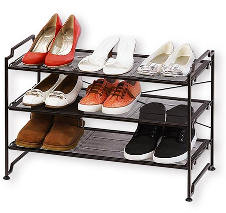 7 SimpleHouseware 3-Tier Stackable Utility Shoes Organizer Rack