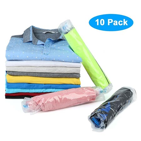 10. Roll up Compression Storage Bag for Packing, Organizing Clothes