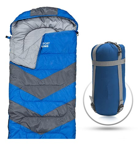 11. Abco Tech Sleeping Bag With Compression Sack