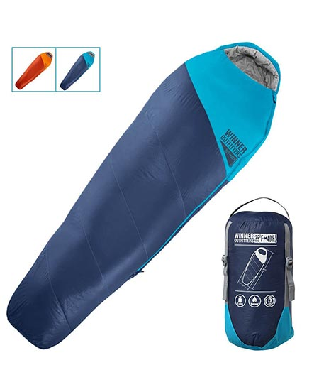 3. Winner Outfitters Mummy Sleeping Bag with Compression Sack
