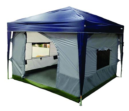 2 NTK TRANSFORM Camping Tent attaches to any 10'x10' Easy Up Pop Up Canopy Tent with 4 Walls
