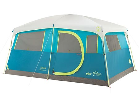 11 Coleman 8 Person Tenaya Lake Fast Pitch Cabin Tent with Closet