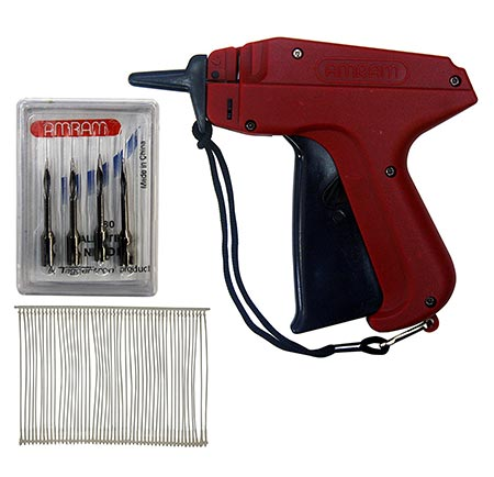 5 Amram Tagger Standard Tag Attaching Tagging Gun BONUS KIT with 5 Needles and 1250 2