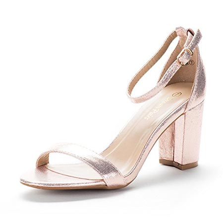 6 DREAM PAIRS Women's Chunk Low Heel Pump Sandals
