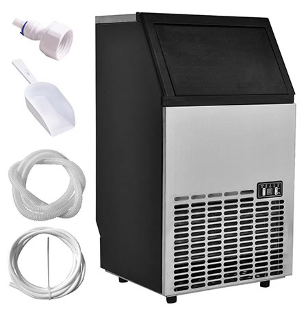 4. Costzon Built-In Stainless Steel Commercial Ice Maker
