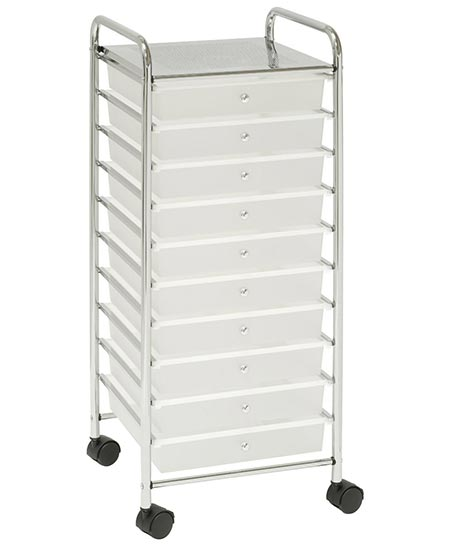 1. Seville Classics She16210 15.51-Inch By15.4-Inch by 38.2-Inch 10 Drawer Organizer