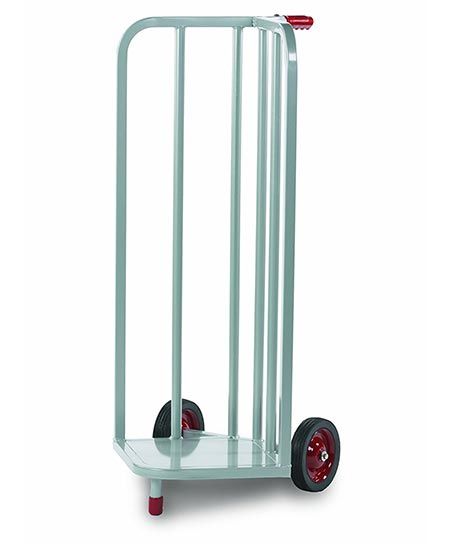7 Raymond Steel V-Shaped Book Cart with Skid Resistant Rubber Wheels, 44