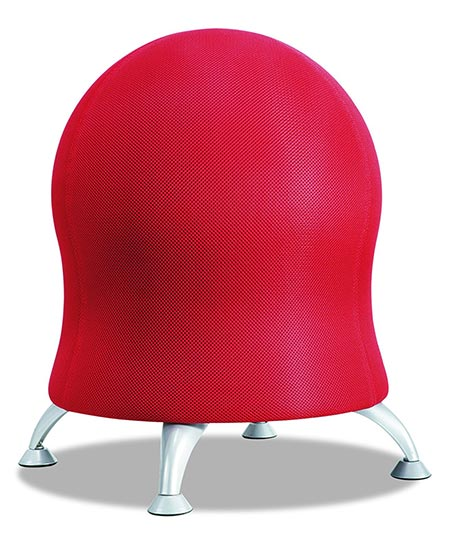 9 Safco Products 4750CI Zenergy Ball Chair, Crimson