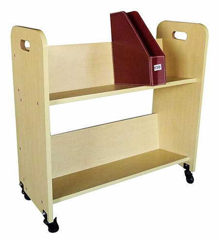 5 FixtureDisplays Wood Book Cart Library Cart Pew Cart 10969