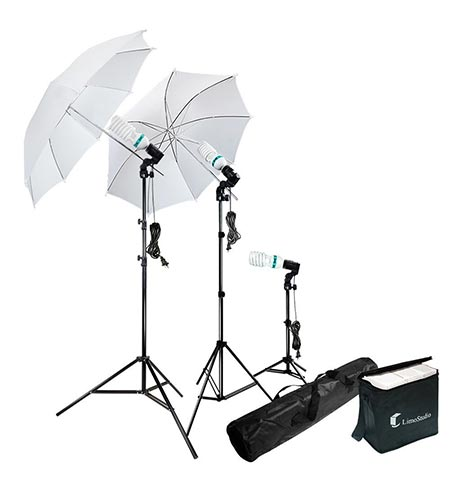 1 Photography Photo Portrait Studio 600W Day Light Umbrella Continuous Lighting Kit by LimoStudio, LMS103