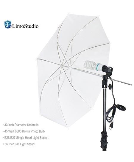 LMS114V2 LimoStudio Photography Umbrella Continuous Light Kit Black White Chromakey Green Muslin Portrait Studio Lighting Kit by Limo Pro Studio