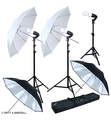8 Linco Lincostore Photography Photo Portrait Studio Lighting 600W Umbrella Continuous Lighting Kit for Video Shooting AM126