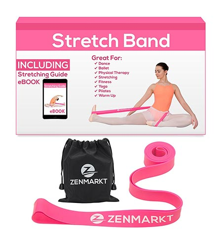 9. Denmark Stretch Band For Ballet, Fitness & Workout | Natural Rubber Latex Stretching Band For Enhanced Flexibility & Strength | Heavy Duty Ballet Barre Leg Stretcher Band For Dancers & Athletes