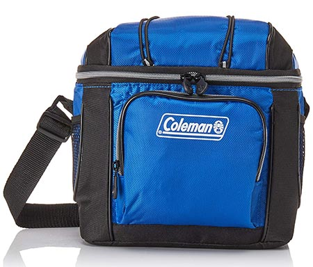 6. Coleman 9-Can Soft Cooler With Hard Liner