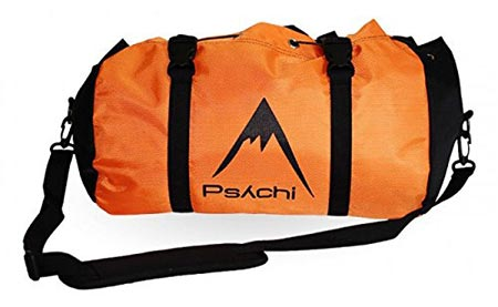 3. Psychi Climbing Rope Bag with Ground Sheet Buckles and Carry Straps (Orange)