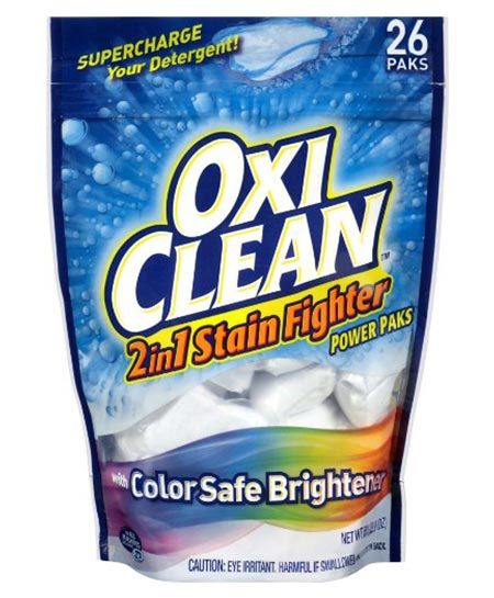2. OxiClean 2-in-1 Stain Fighter Power Paks, 26 Count