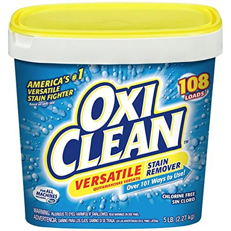 5. OxiClean Versatile Stain Remover, 5 Lbs