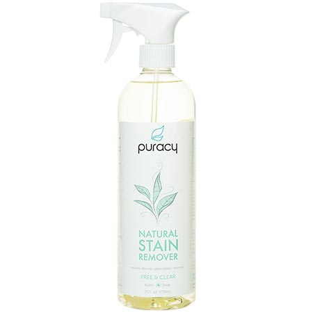1. Puracy Natural Stain Remover - THE BEST Enzyme Laundry Cleaner - Plant-Based Spot & Odor Eliminator - Free & Clear - 25 fl. Ounce
