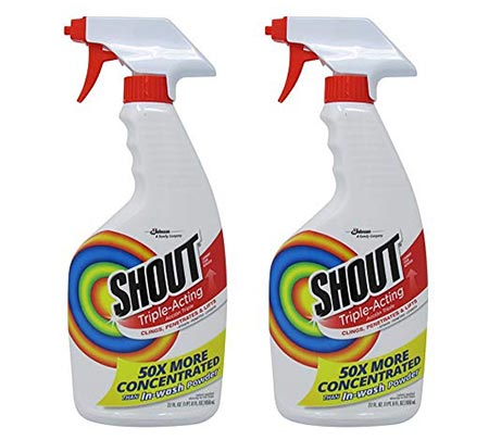 9. Shout Laundry Stain Remover Trigger Spray - 22 oz - 2 pk