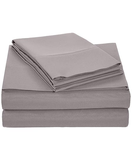 2. AmazonBasics Microfiber Sheet Set