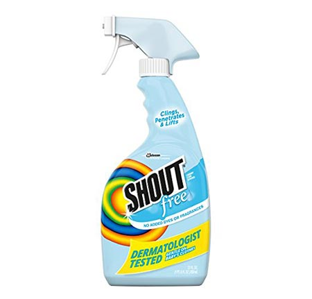 11. Shout Free Laundry Stain Remover, Trigger, 22 Fl. Oz.