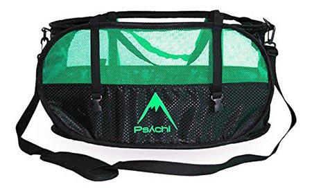 5. Psychi Climbing Rope Belay Bag Bucket with carrying Straps and Gear Loops