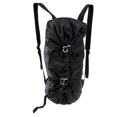 8. MonkeyJack Large Ultra-light Folding Outdoor Rock Climbing Rope Equipment Storage Bag Backpack with Ground Sheet & Shoulder Straps Black