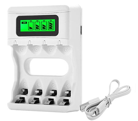 11. Bonai AA/AAA LCD Battery Charger with USB Input