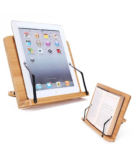 9. Yesurprise Desktop Book Stand with Foldable Tray Page Paper Clips