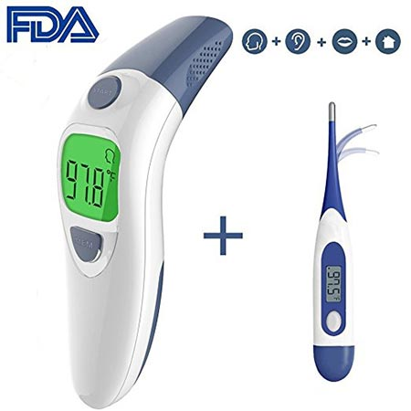 7. Clinical Forehead and Ear Thermometer, Besyoyo Fast and Accurate Baby Thermometer