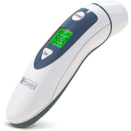 9. Medical Digital Ear Thermometer with Temporal Forehead Function For Baby, Infant, and Kids
