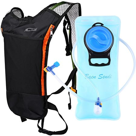8. Baen Sendi Hydration Pack with 2L Backpack Water Bladder - Great for Outdoor Sports of Running Hiking Camping Cycling