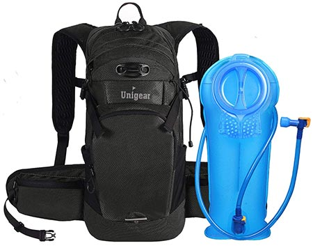 6. Unigear Hydration Packs Backpack with 2L TPU Water Bladder Reservoir for Running, Hiking, Climbing, Cycling