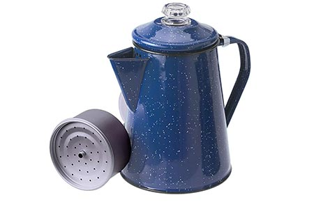 5. GSI Outdoors Enamelware Percolator Coffee Pot