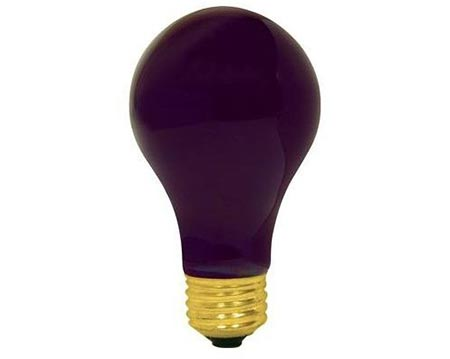 10. BLACK LIGHT 75 WATTS A19 UV LIGHT BULB
