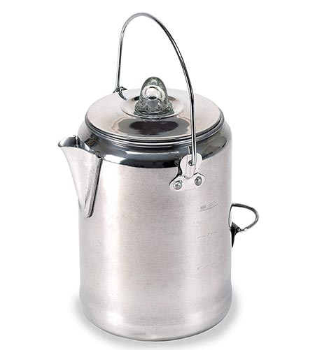 2. Stansport Aluminum Percolator Coffee Pot