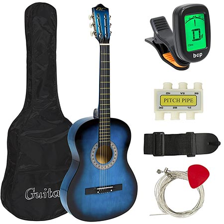 1. Best Choice Products Beginners 38'' Acoustic Guitar