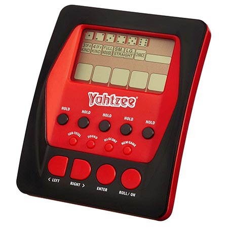 2. Hasbro Yahtzee Handheld Digital Game
