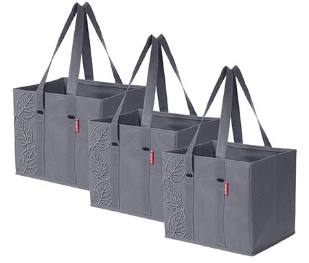 8. Planet E Reusable Grocery Shopping Bags